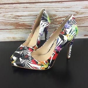 Jessica Simpson Floral Pumps Heels